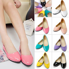 Women Ladies Ballet FLATS BALLERINA Casual Work Dolly Pumps Loafers Single Shoes