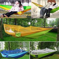 Hammock Canvas Bed Outdoor Swing Fabric Portable Cotton Rope Camping Hanging Net