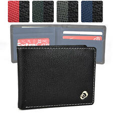 Black Bi-Fold PU Leather Wallet for Men | Slim and Includes Window ID Slot