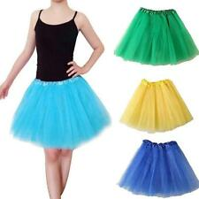 Women Girls Ballet Dance Tutu Skirt Cut Layered Tulle Lace Mini Short Dress