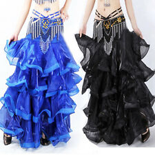 2016 Professional Belly Dance Costume Waves Skirt Dress with slit Skirt 6 Colors