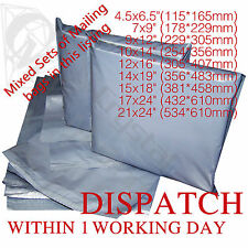 Mixed Strong Grey Mailing Post Poly Postage Bags 10x14 12x16 Self Seal Cheap