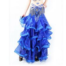 For Professional Belly Dance Costume Waves Skirt Dress with slit Skirt 6 Colors