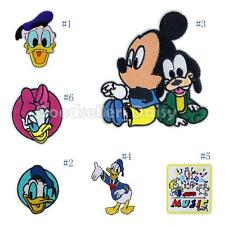 Mickey Mouse Donald Duck Embroidered Applique Iron On Sew Patch Clothes DIY
