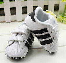 Toddler Baby Boy Girl White Soft Sole Crib Shoes Infant Sneakers 0-18 Months CCO