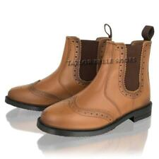 MENS TAN LEATHER CHELSEA BROGUE ANKLE DEALER CASUAL SMART WORK BOOTS SHOES SIZE