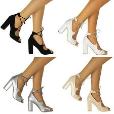 Ghillie Platform Chunky Mid Heel Peep Toe Suede Platform Lace Up Ankle Sandals
