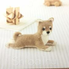 Hamanaka - Japanese Craft Wool Needle Felting Kit - Dog Shiba Inu