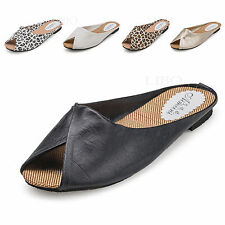 2016 Women Summer Fashion Causal Shoes Slippers Faux Leather Sandals Beach Mules