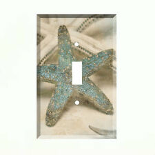 Blue Star Fish Light Switch Plate Wall Cover Tropical Decor Ocean