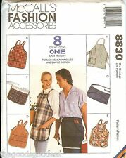 McCalls 8830 8 Great Looks In One Aprons sewing pattern Unisex UNCUT FF NEW