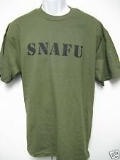 SNAFU T-SHIRT/ NEW/ MILITARY