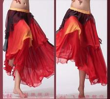 New Belly Dance Color Gradient Cake Spiral Big Skirt Dancing Dress Costume
