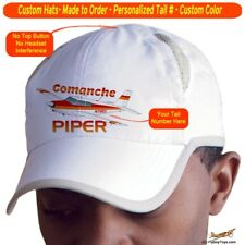 Piper Comanche PA24-180 Cap Custom Airplane Pilot Hat -Personalized with Your N#