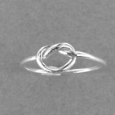 Eternity Love Knot Silver Ring-knotr Ring-925 Sterling Silver-Heart Knot Ring