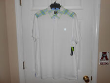 Mens Izod Golf Performance Polo...White/Shoulder Stripes...Large...NWT