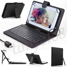 "New Micro USB Keyboard PU Leather Stand Case For 7"" 8"" inch Android Tablet Cover"
