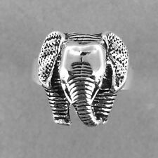 Elephant Silver Ring-Elephant Ring-925 Sterling Silver-Oxidized