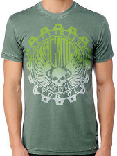 Affliction American Customs GRADED - Men's Biker Burnout T-Shirt - NEW - Green