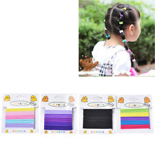 20 Pcs Elastic Hair Bands Girl Ponytail Holder Hair Accessories Rubber Hair Ties