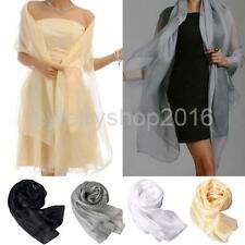 Fashion Lady Womens Solid Chiffon Scarf Soft Shawl Wrap Neck Warm Stole