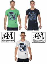 New Diesel Men's T-Shirt T-MAPS-RS Cotton T-Shirt in 3 Colors & All Sizes RRP£45