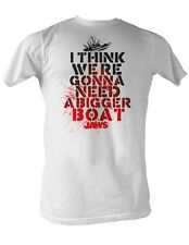 Jaws T-Shirt Need A Bigger Boat Red Splatter White T-Shirt