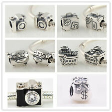 Jaime 925 Solid Sterling Silver Travel A Series fit European Charm Bead Bracelet