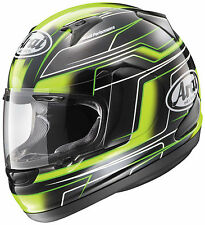 Arai Adult Green/Black/White RX-Q Electric Full Face Motorcycle Helmet