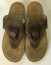 Fly Flot Willamatte Brown / Tan Leather Slide Sandals Soft ITALY 40 US 9 *