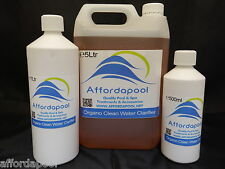 Organic Water Sparkle For Pools, Spas & Hot Tubs. Helps clear cloudy water.