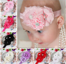 Cute Adorable Child Baby Girl Shabby Flower headband Soft Elastic Hair Accessory