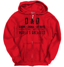 Worlds Greatest Dad Father Funny Shirt Humorous Gift Ideas Zipper Hoodie