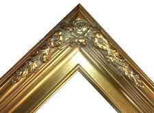 Gold antique Ornate art Classic wedding Picture art 3D Frame gallery ready B6G