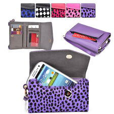 Furry Spotted Wrist-Let Case Clutch Cover & Organizer for Smart-Phones ESMK8