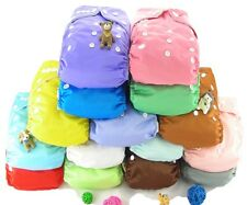 Shine Infant Baby Solid Color 2.0 Cloth Diapers Nappy Cover Diaper Liner Insert