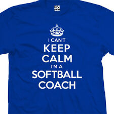 Softball Coach T-Shirt - I Can't Keep Calm I'm a Manager Gift All Sizes & Colors