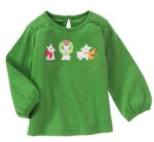 Gymboree Cheery All The Way Westie Puppy Dog Holiday Wreath Green Top Pick Size