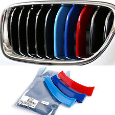 3pcs Front M Grill Grille Trim Strip Buckle Decal For BMW 3 5 Series X3 X4 X5 X6