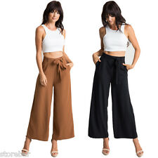 Sexy Women Summer Loose High Waist Wide Leg Long Trousers Palazzo Pants 3Colors