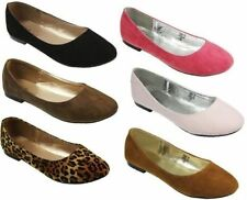 WOMENS BALLET DOLLY PUMPS LADIES FLAT BALLERINA SHOES UK SIZES 3-8