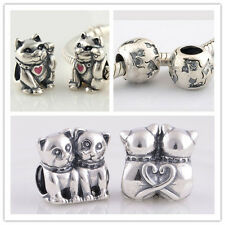 Jaime 925 Solid Sterling Silver Kitty Cat Series European Charm Bead Bracelet