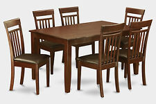 7 Piece formal dining room Set-Dining table and 6 dining room chairs