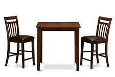 3 Pc counter height dining set-counter height table and 2 counter height chairs