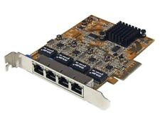 STARTECH 4 Port PCI Express PCIe Gigabit Ethernet NIC Network Adapter Card ST100