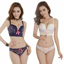 Sexy Women Ladies Lace Underwear Push Up Padded Bra Sets & Panty 32/34/36 B Cup