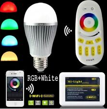 Milight 2.4G Wifi E27 9W led Bulb RGBW RGB + White Lamp RF remote controller
