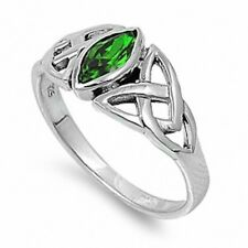 Beautiful Wedding Engagement Ring 925 Sterling Silver 0.50Ct Marquise Emerald