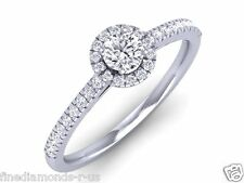 0.50ct Princess & Round cut Diamonds Engagement Ring in 950 Platinum