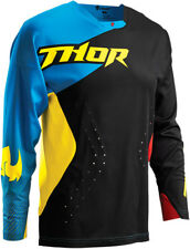 Thor Mens Black/Multi/Blue/Yellow Core Air Divide Dirt Bike Jersey MX ATV 2016
